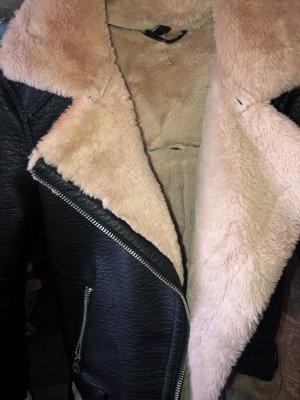 H&M Leder Fell Jacke