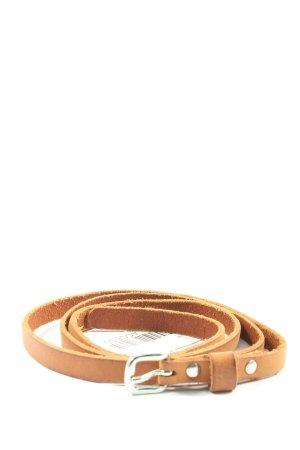 H&M Skórzany pasek brązowy W stylu casual