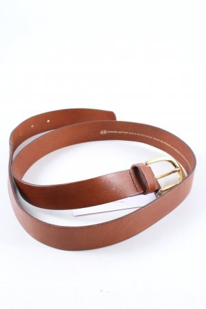 H&M Leather Belt brown business style