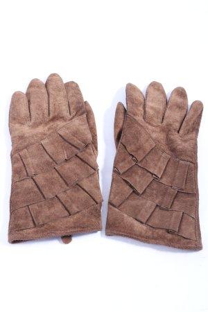 H&M Guantes de cuero marrón look casual