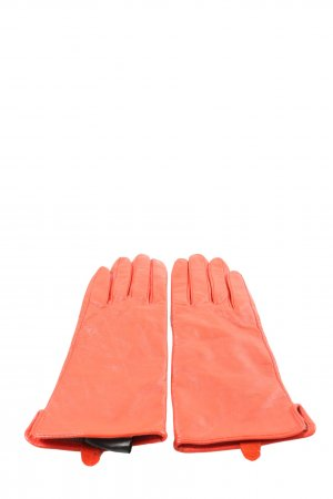 H&M Leather Gloves red simple style