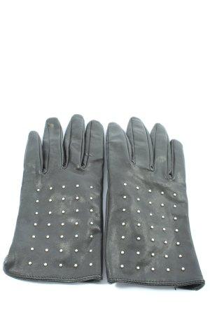 H&M Gants en cuir noir style décontracté