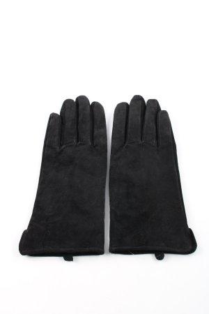 H&M Lederhandschuhe schwarz Casual-Look