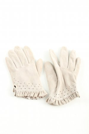 H&M Leather Gloves natural white casual look