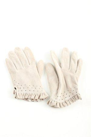 H&M Guantes de cuero blanco puro look casual