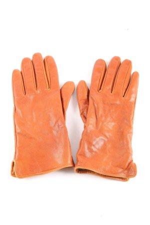 H&M Guantes de cuero naranja claro look casual