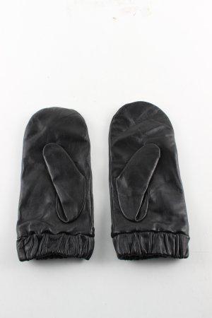 H&M Guantes de cuero negro look casual