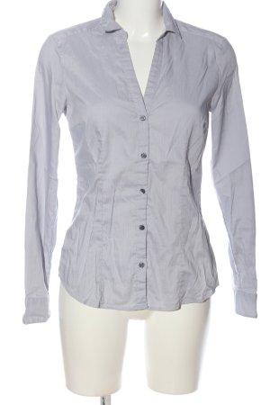 H&M Leather Shirt light grey striped pattern business style