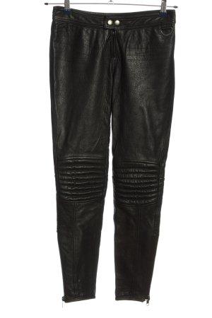 H&M Pantalón de cuero negro look casual