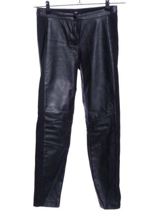 H&M Pantalon en cuir noir style décontracté
