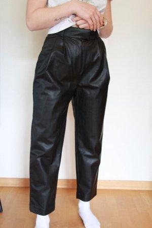 H&M Lederhose Bundfaltenhose Gr. 36 highwaist