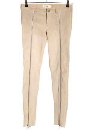 H&M Leren broek nude casual uitstraling