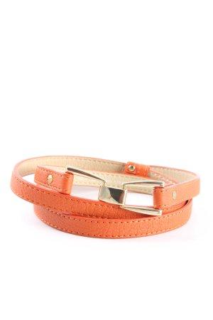 H&M Cintura in ecopelle arancione chiaro stile casual