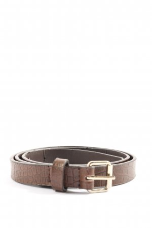 H&M Faux Leather Belt brown allover print casual look