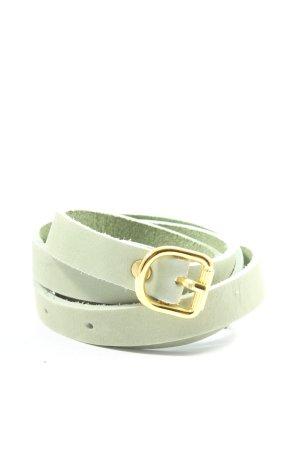 H&M Cinturón de cuero de imitación verde elegante