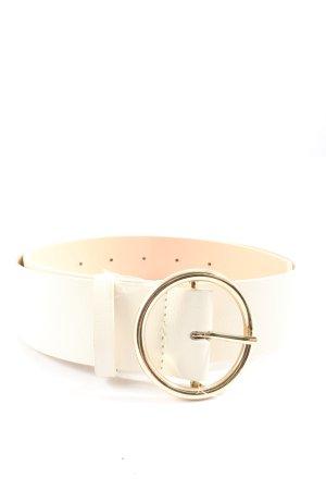 H&M Cinturón de cuero de imitación crema look casual