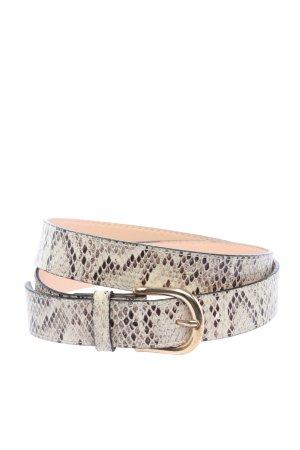 H&M Cintura in ecopelle bianco sporco-marrone stampa integrale stile casual