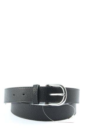 H&M Cinturón de cuero de imitación negro look casual