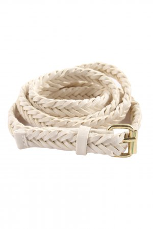 H&M Faux Leather Belt natural white casual look