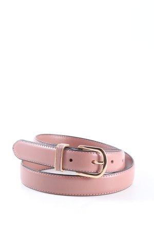 H&M Cinturón de cuero de imitación rosa look casual