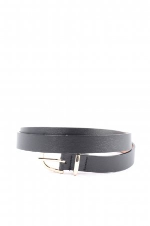 H&M Lederimitatgürtel schwarz Casual-Look