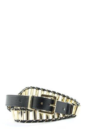 H&M Cintura in ecopelle nero-oro elegante