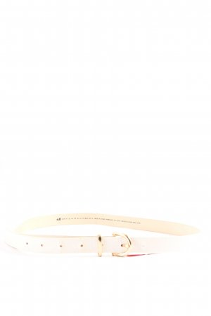 H&M Faux Leather Belt natural white-gold-colored casual look