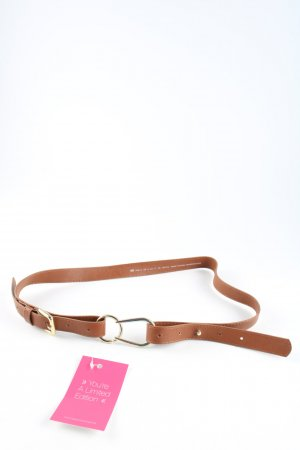 H&M Faux Leather Belt brown-gold-colored casual look