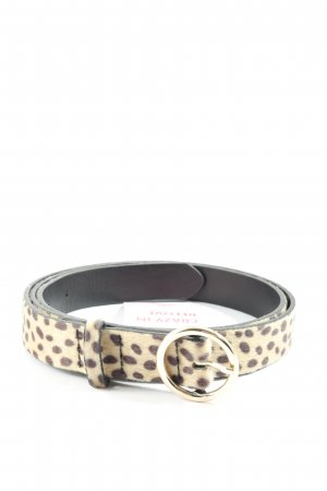 H&M Faux Leather Belt cream-brown allover print casual look