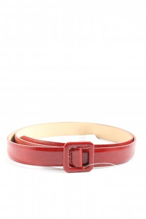 H&M Cinturón de cuero de imitación rojo look casual