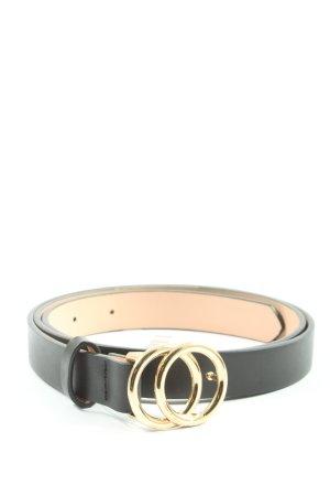 H&M Lederimitatgürtel schwarz Elegant