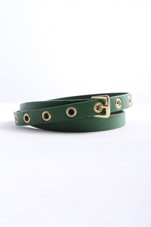 H&M Faux Leather Belt green business style