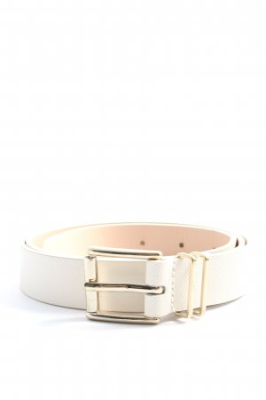 H&M Faux Leather Belt white-gold-colored casual look