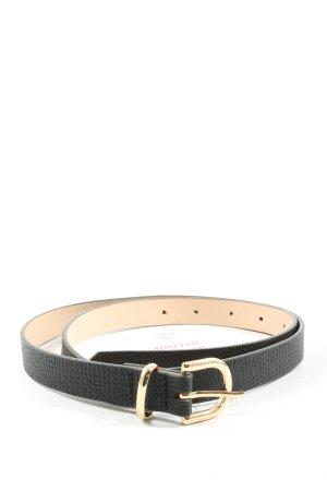 H&M Cintura in ecopelle nero-oro motivo a righe stile casual