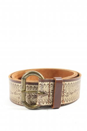 H&M Leather Belt brown themed print business style