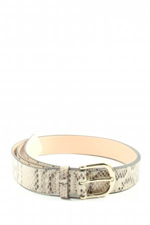 H&M Faux Leather Belt cream-natural white animal pattern casual look