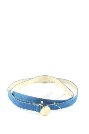 H&M Lederimitatgürtel blau Casual-Look