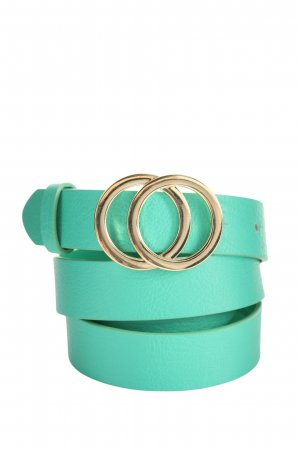 H&M Faux Leather Belt turquoise-gold-colored elegant