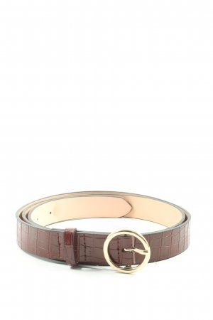 H&M Faux Leather Belt brown animal pattern casual look