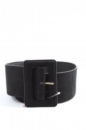 H&M Faux Leather Belt black business style
