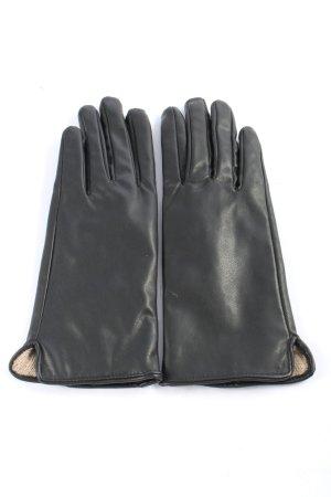 H&M Handschoenen van imitatieleder zwart casual uitstraling