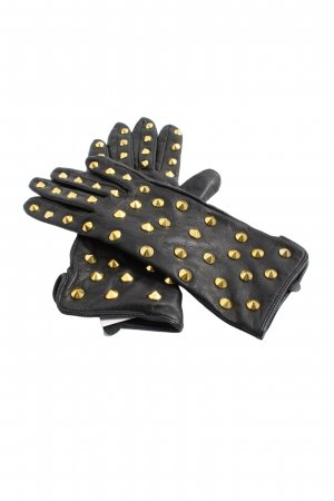 H&M Faux Leather Gloves black casual look