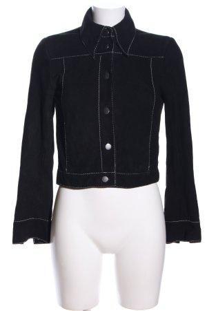 H&M Lederjacke schwarz Casual-Look