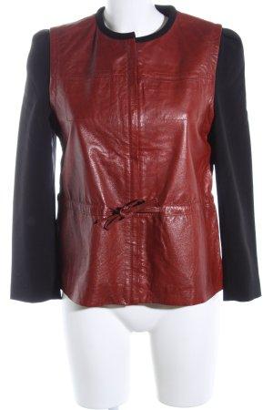 H&M Lederjacke braun-schwarz Casual-Look