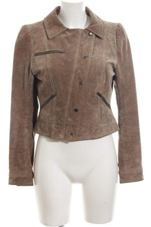 H&M Lederjacke bronzefarben Casual-Look
