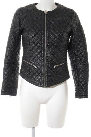 H&M Lederjacke schwarz Street-Fashion-Look