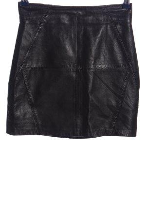 H&M Leren rok zwart casual uitstraling
