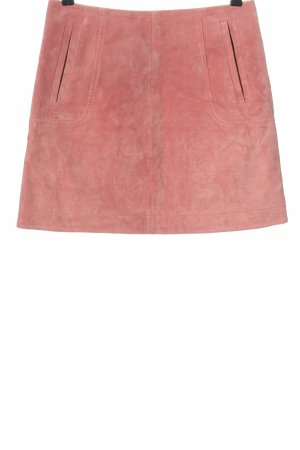 H&M Leather Skirt pink casual look
