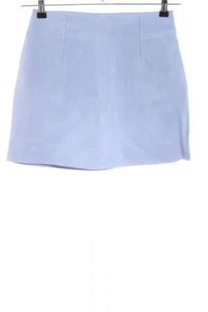 H&M Lederrock blau Casual-Look