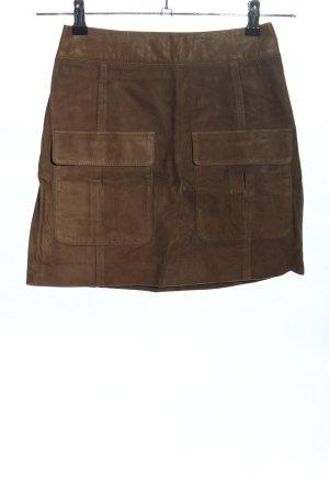 H&M Lederrock braun Casual-Look
